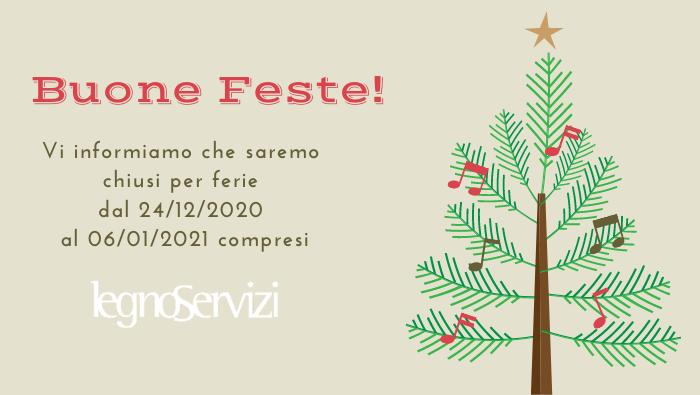 Auguri di buone feste e chiusura natalizia