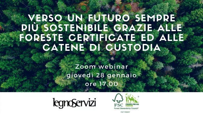 Legno Servizi e FSC organizzano il secondo webinar sulla certificazione forestale e le catene di custodia