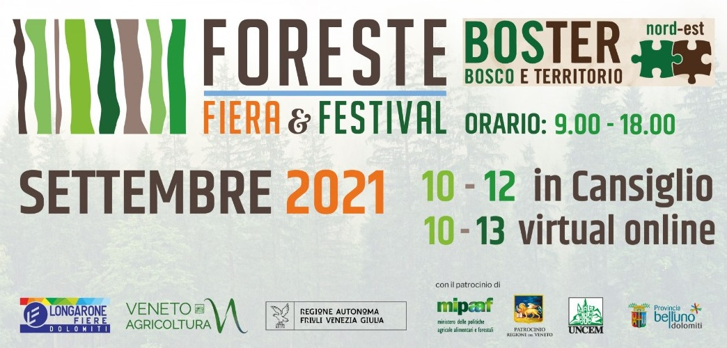 Fiera & Festival delle Foreste- 10-11-12 settembre 2021-Pian Cansiglio